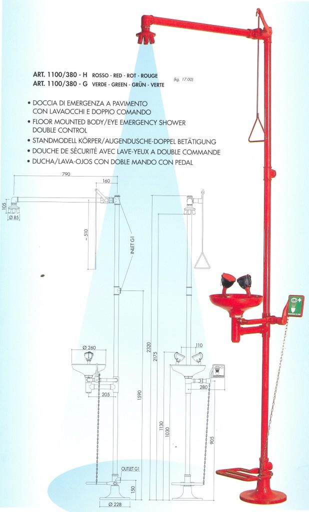 floor mounted emergency shower
